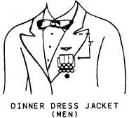 Navy dinner dress medal placement
