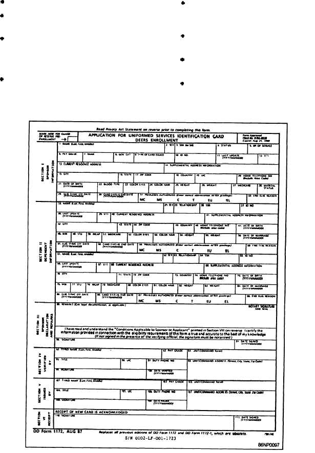 Figure 6-7.—Application for Uniformed Services Identification Card ...