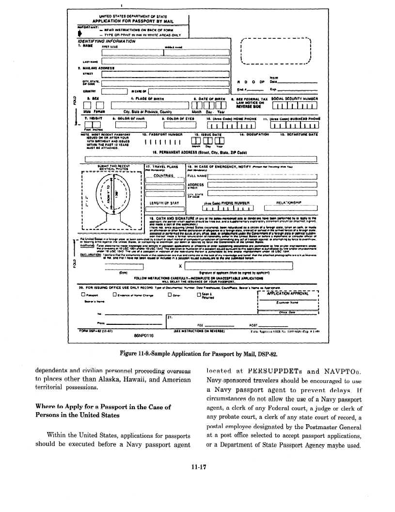 Sample Applications Figure Sample Application For Passport By Mail