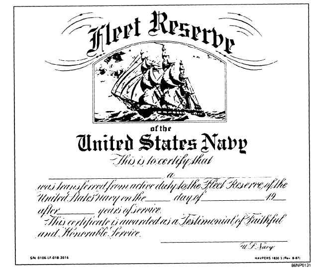 Figure 13 8fleet Reserve Certificate Navpers 18303