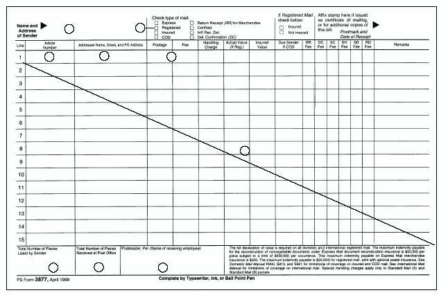 Ps Form 3877 Tekil Lessecretsdeparis Co
