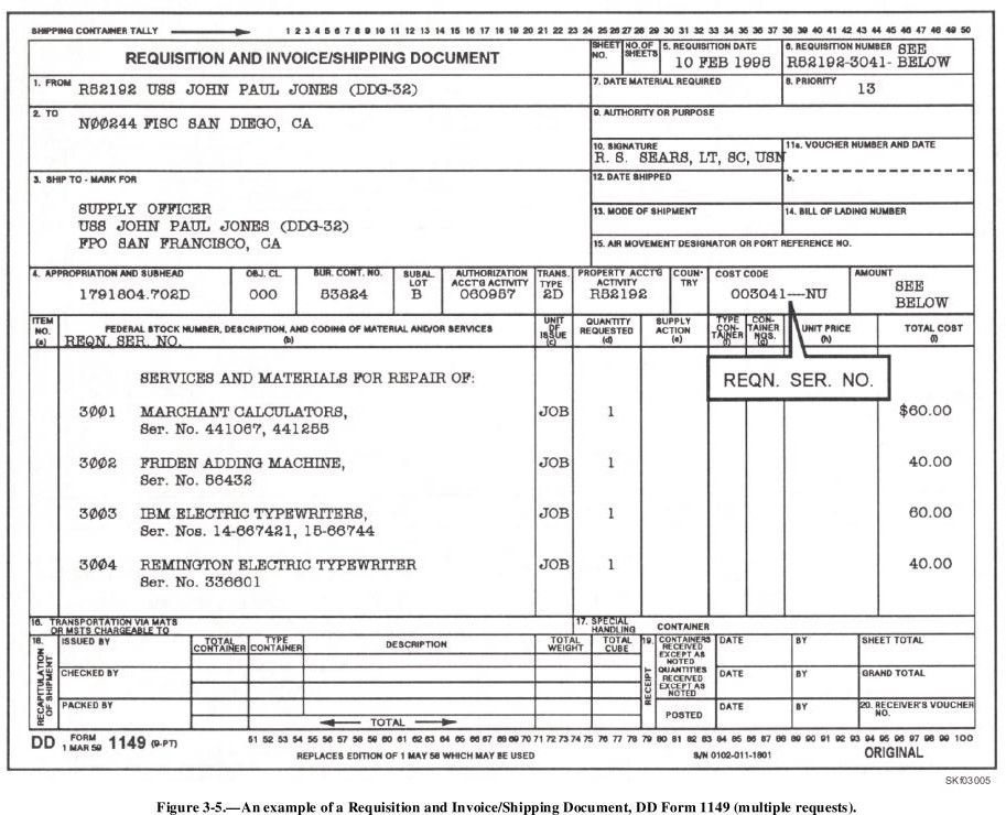 Dd form 1149 fillable